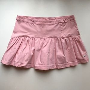 Nike FitDry Light Pink Ruffled Tennis Golf Skort